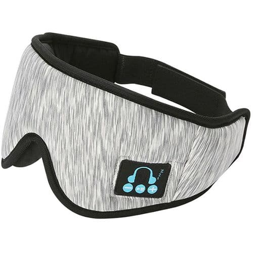 Bandeau Casque Audio De Sommeil Bluetooth V5 Masque Yeux Micro Écouteur Intégré